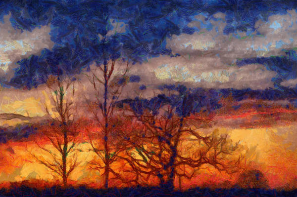 Digital Art - Sky On Fire by Clare Bambers
