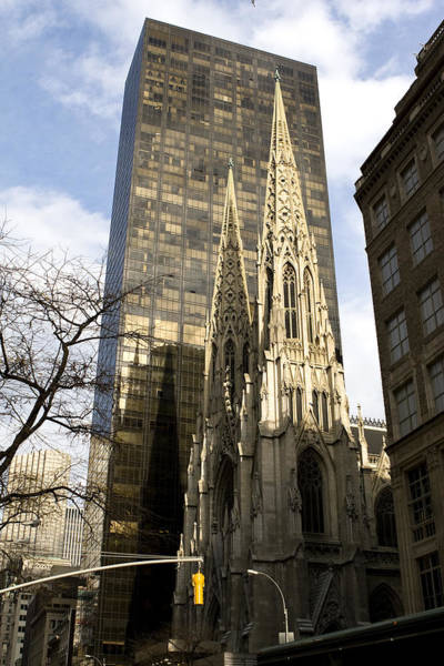 Photograph - Skyscraper And Spire by Lorraine Devon Wilke
