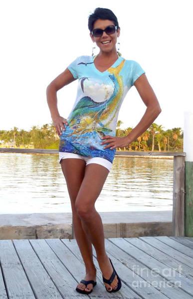 Chen Digital Art - Slammer Ladies Shirt by Carey Chen