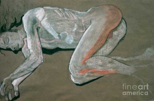 Male Model Drawing - Sleeping Beauty by Joanne Claxton