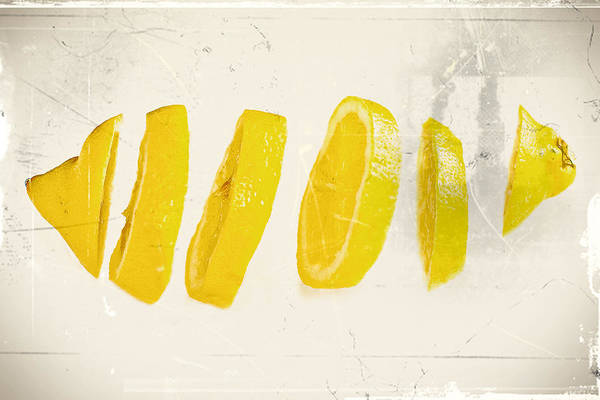 Lemon Photograph - Sliced Lemon by Lacaosa