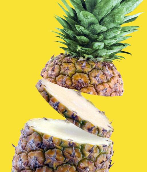 Pineapple Photograph - Sliced Pineapple by Victor Habbick Visions
