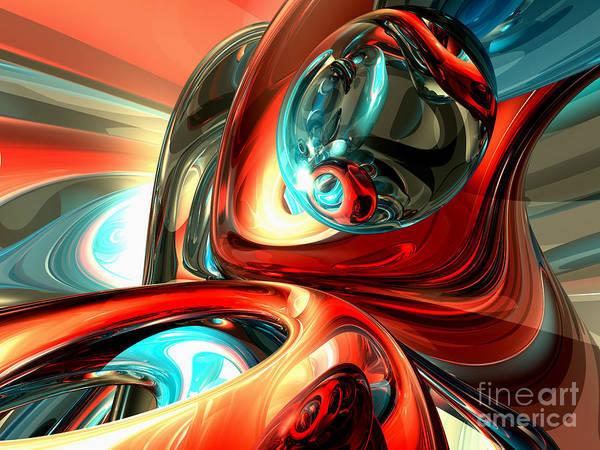 Wall Art - Digital Art - Slippery Abstract by Alexander Butler