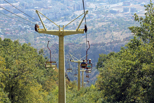 Photograph - Sliven Chairlift by Tony Murtagh