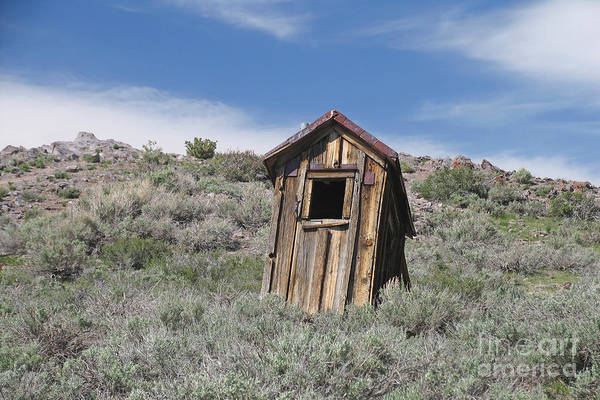 Outside Toilet Photograph - Small Ghost Town Outhouse by Jaak Nilson