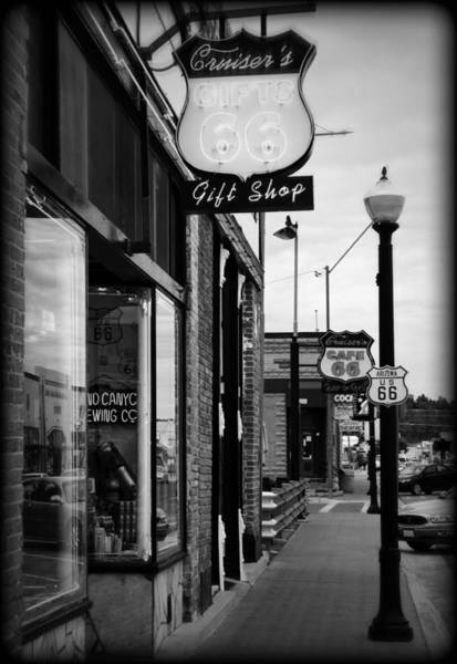 Historic Route 66 Photograph - Small Town Shops by Ricky Barnard