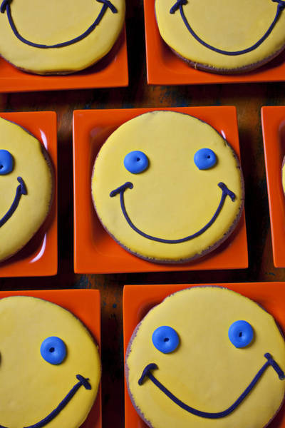 Smiley Face Wall Art - Photograph - Smiley Face Cookies by Garry Gay