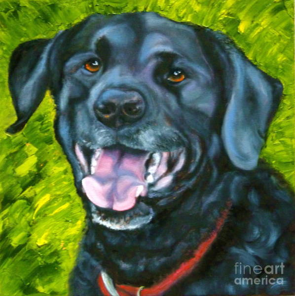 Wall Art - Painting - Smiling Lab by Susan A Becker