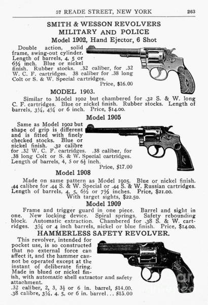 Photograph - Smith & Wesson Revolvers by Granger