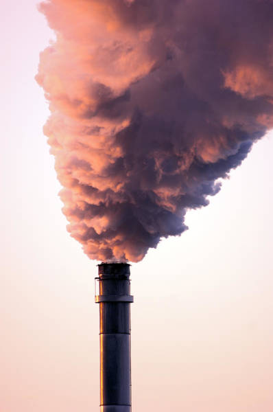 Energy Crisis Photograph - Smoking Chimney by Jeremy Walker