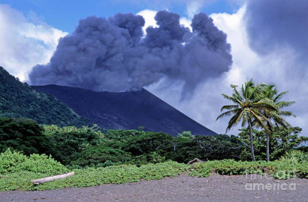 Yasur Photograph - Smoking Yasur Volcano by Sami Sarkis