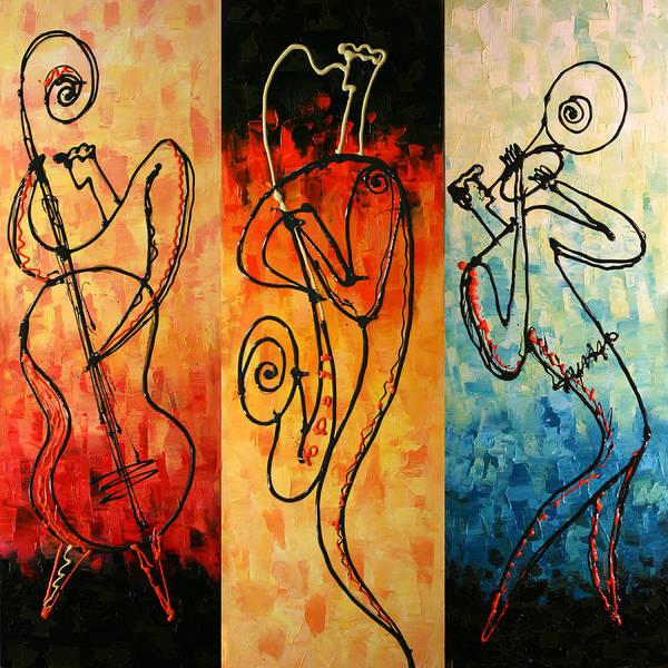 Wall Art - Painting - Smooth Jazz by Leon Zernitsky