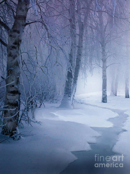Wall Art - Painting - Snow Brook by Robert Foster