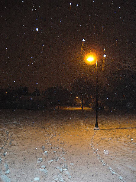 Photograph - Snow By Night by Dragan Kudjerski