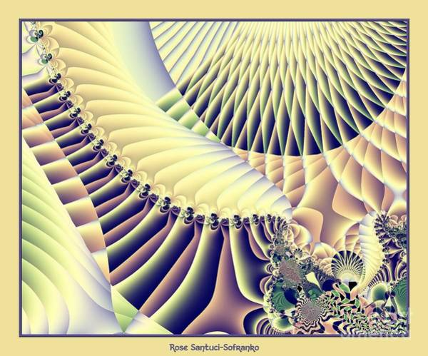 Digital Art - Snow Capped Mountains And Verdant Valleys Fractal 156 by Rose Santuci-Sofranko