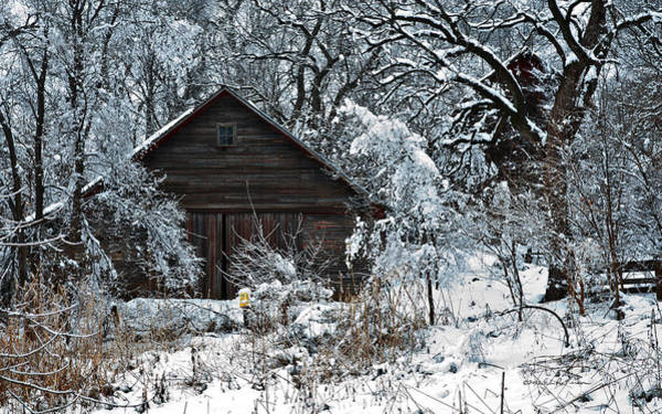 Photograph - Snow Covered Barn by Edward Peterson