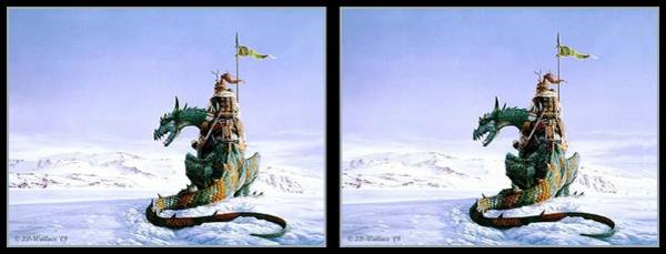 Stereoscopy Digital Art - Northwatch By Keith Parkinson - Gently Cross Your Eyes And Focus On The Middle Image by Brian Wallace
