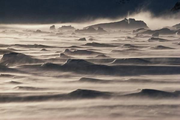 Antarctica Photograph - Snow Drift Over Winter Sea Ice by Antarctica
