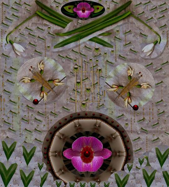 Orchid Mixed Media - Snow Flowers And Orchids In Heavenly Wisdom by Pepita Selles