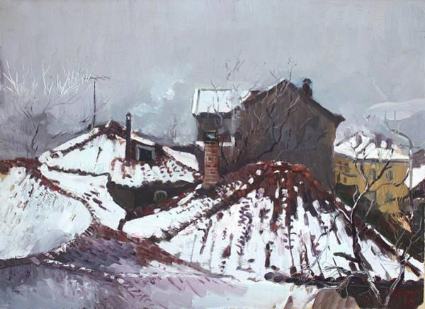 Elbasan Painting - Snow In Elbasan by Ylli Haruni