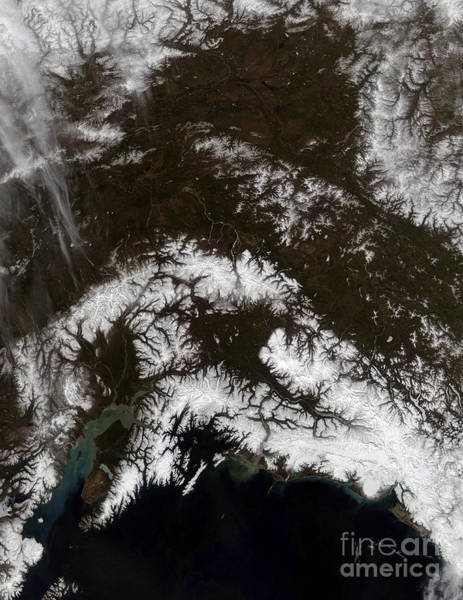 Gulf Of Alaska Photograph - Snow In South Central Alaska by Stocktrek Images