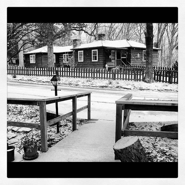 Snow On Artist Drive Brown County Art Print
