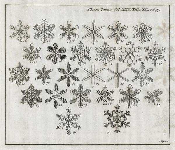 1755 Photograph - Snowflake Research, 18th Century by Middle Temple Library