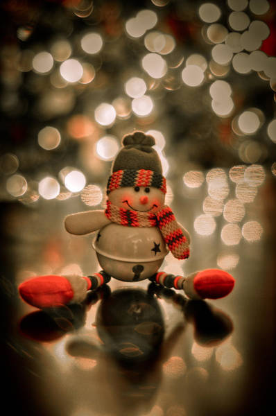 Wall Art - Photograph - Snowman Christmas Ornament by Kelly Wade