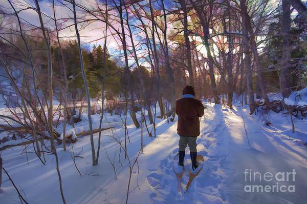 Wall Art - Photograph - Snowshoe Into Winter by Allan MacDonald