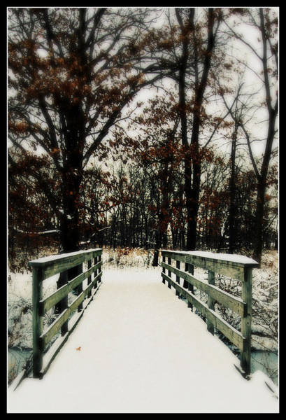 Photograph - Snowy Bridge by Lora Mercado