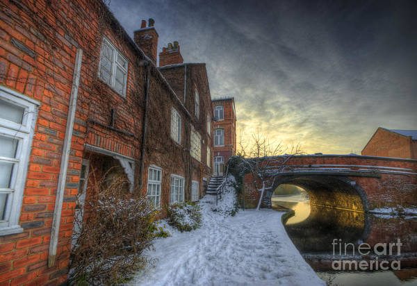 Photograph - Snowy Canal Footpath by Yhun Suarez