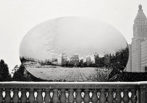 Photograph - Snowy Cloud Gate by Laura Kinker