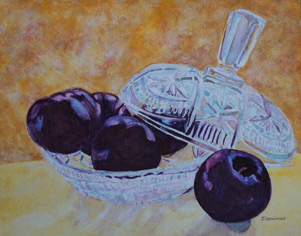 Plums Painting - So Juicy And Sweet by Jenny Armitage