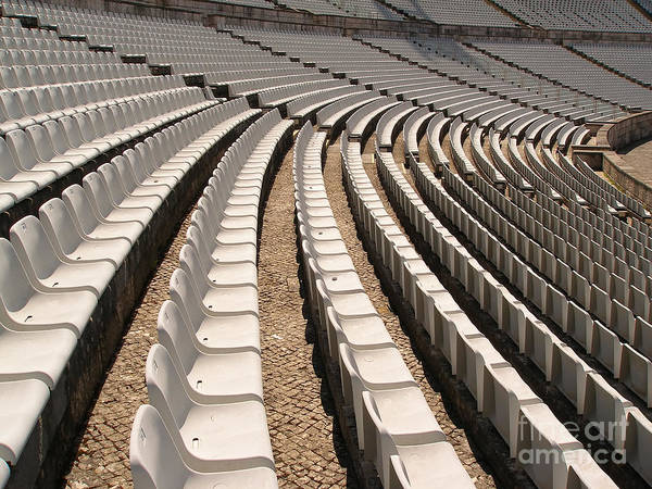 Olympic Club Photograph - Soccer Stadium Chairs by Manuel Fernandes