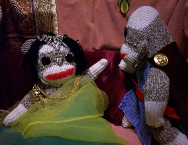 Sock Monkey Photograph - Sock Monkey Antony And Cleopatra by David Jones