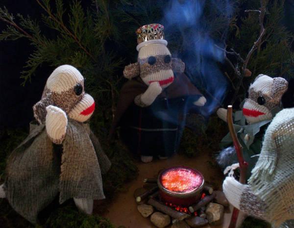 Sock Monkey Photograph - Sock Monkey Macbeth by David and Amy Jones