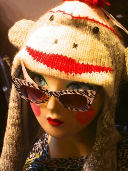 Sock Monkey Photograph - Sock Monkey Zebra Glasses by Kym Backland