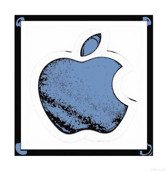 The Mac Wall Art - Photograph - Soft Blue Apple by Rob Hans