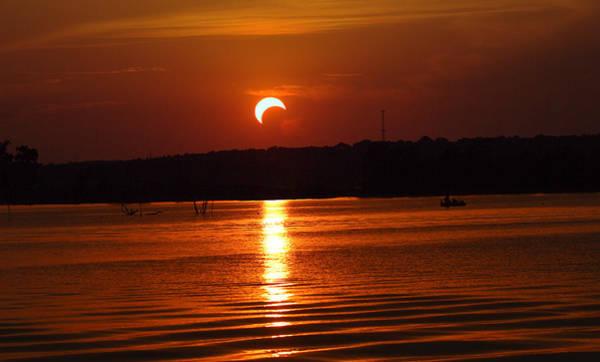Photograph - Solar Eclipse 2012 - Fort Worth Texas by Elizabeth Hart
