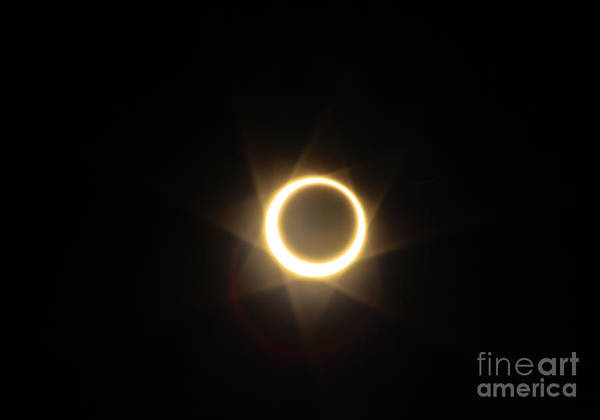 Fire Ring Photograph - Solar Eclipse 3 Ring Of Fire by Mitch Shindelbower