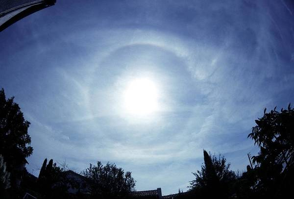 22 Degree Halo Wall Art - Photograph - Solar Halo by Laurent Laveder