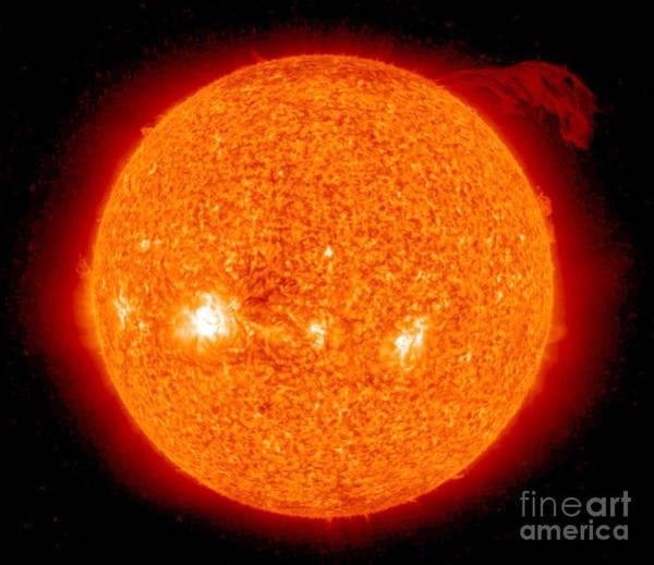 Photograph - Solar Prominence by Nasa
