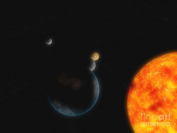 Digital Art - Solar System by Carbon Lotus