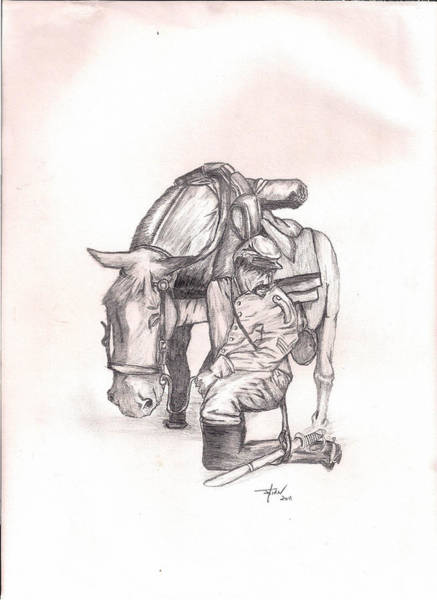 Confederate Soldier Drawing - Soldier's Pride by Julian Mason