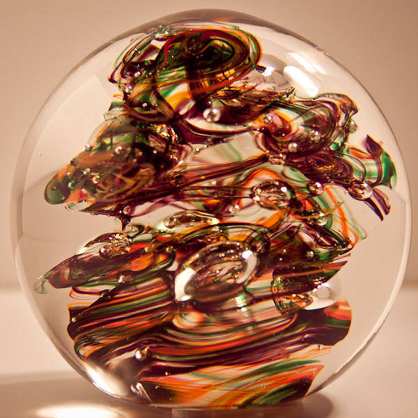 Glass Art - Solid Glass Sculpture R9 by David Patterson