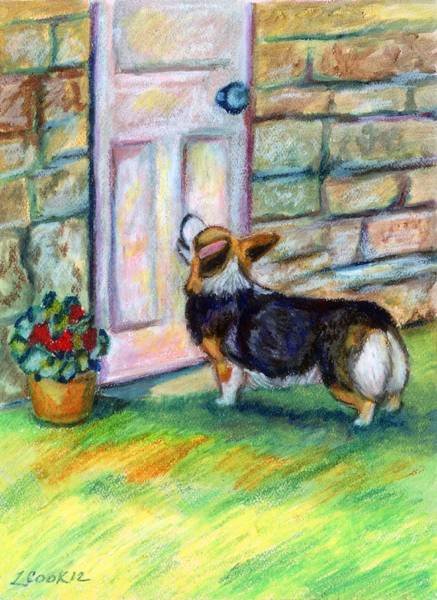 Wall Art - Painting - Someone's At The Door by Lyn Cook