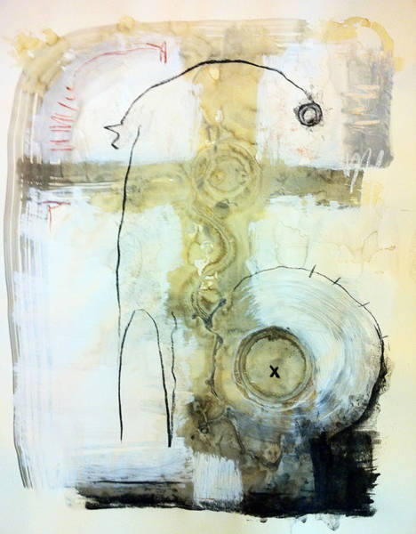 Mixed Media Drawing - Somewhere Between Space And Time 4 by Mark M  Mellon