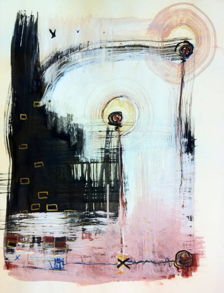 Mixed Media Drawing - Somewhere Between Space And Time 5 by Mark M  Mellon
