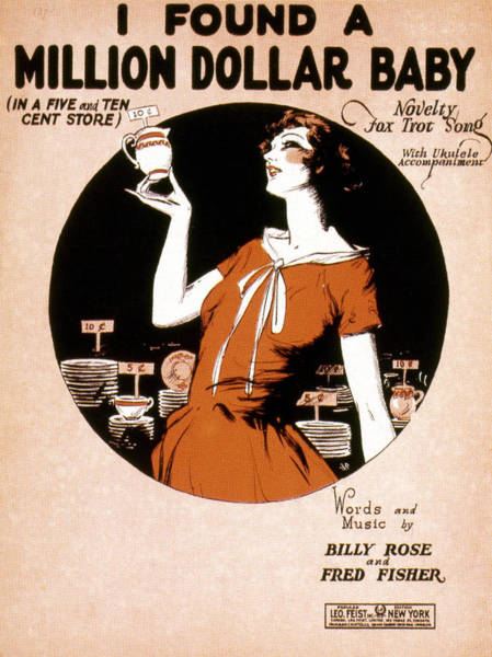 Photograph - Song Sheet Cover, 1926 by Granger