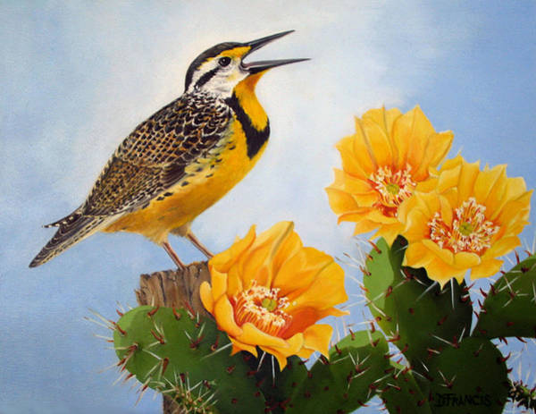 Meadowlark Painting - Songs Of The Meadowlark by Donna Francis